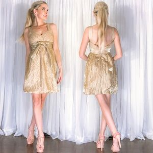 Metallic Gold Sparke Sequin Cocktail Party Dress